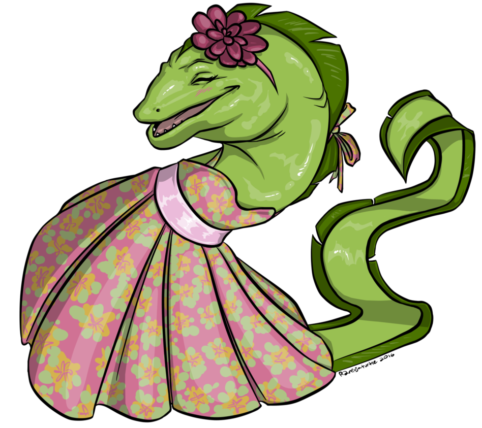 Commission peggy the moray. Girly clipart turtle
