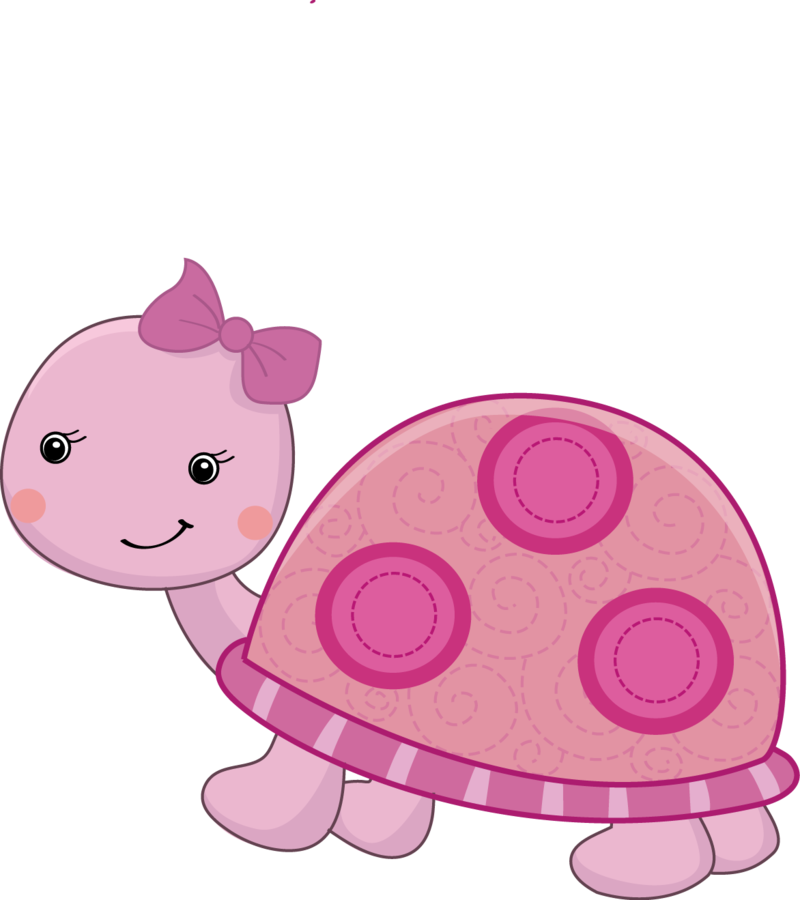Pink and pretty sunday. Girly clipart turtle