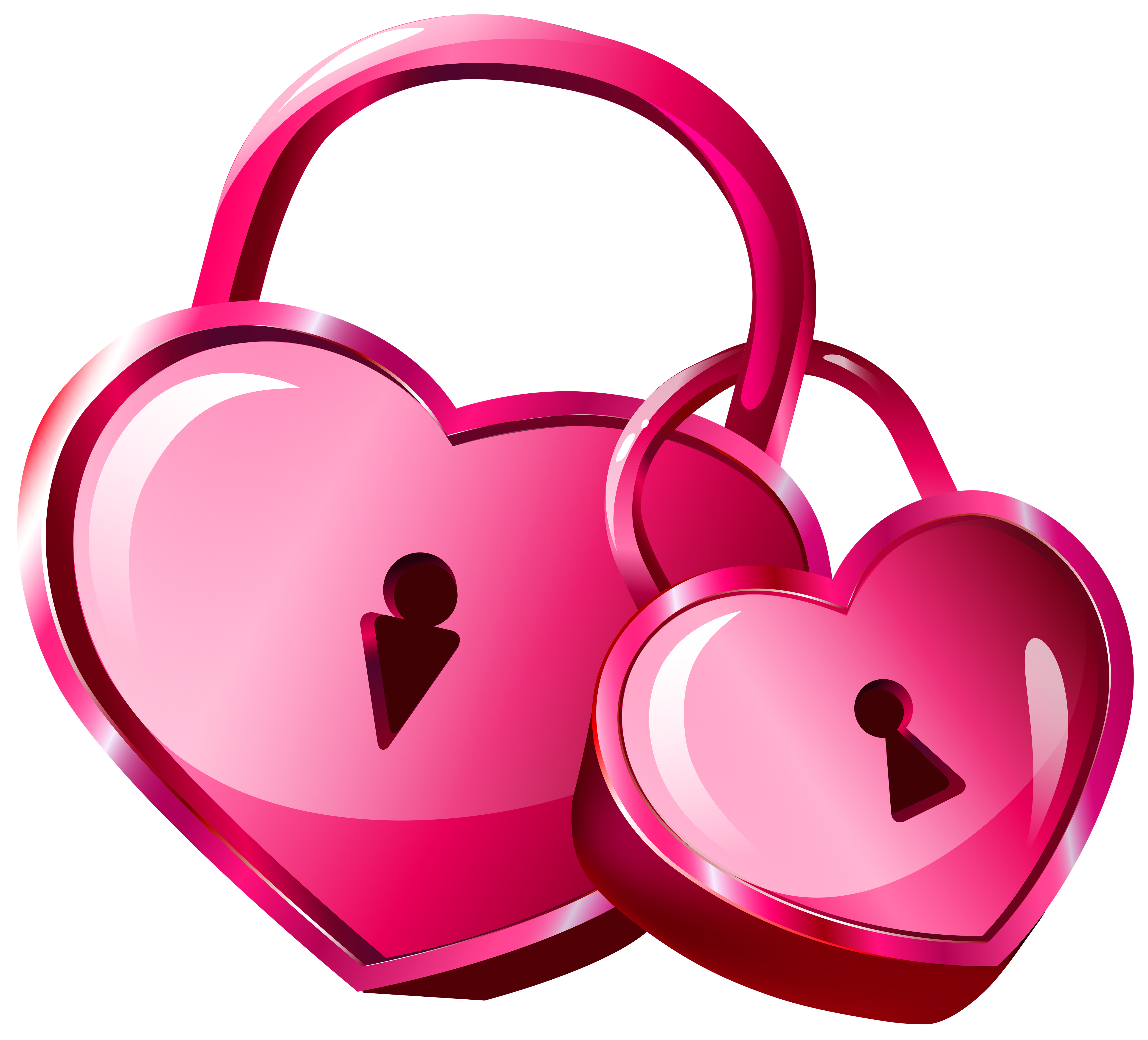 Heart locks transparent png. Girly clipart valentine