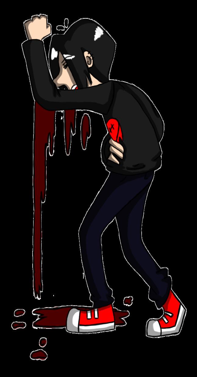 Girly clipart vampire. Vomiting robbie by girlyrainbowvampire