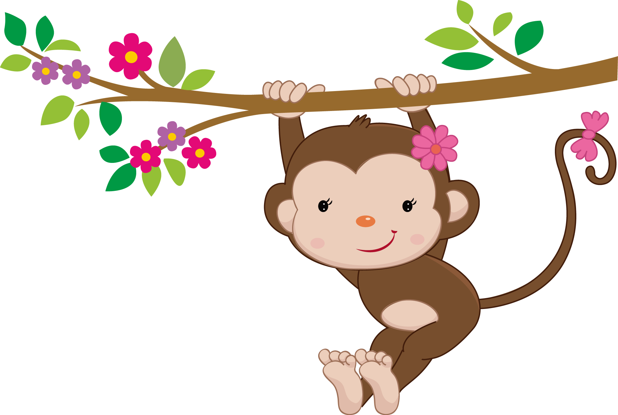 Monkey dibujos de monitos. Girly clipart zebra