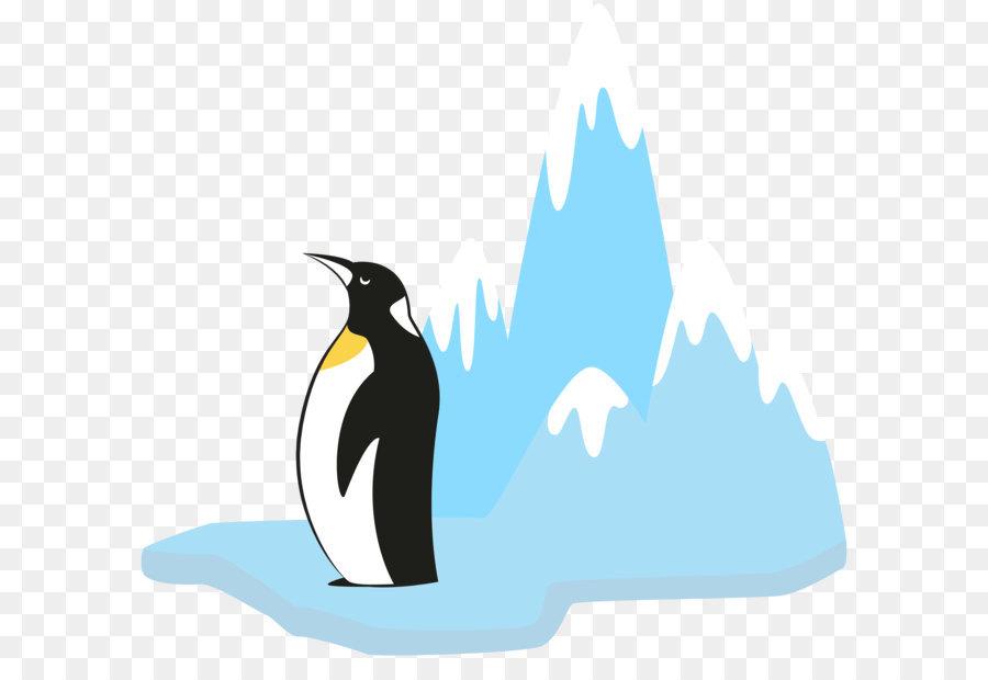 Glacier clipart. King penguin clip art