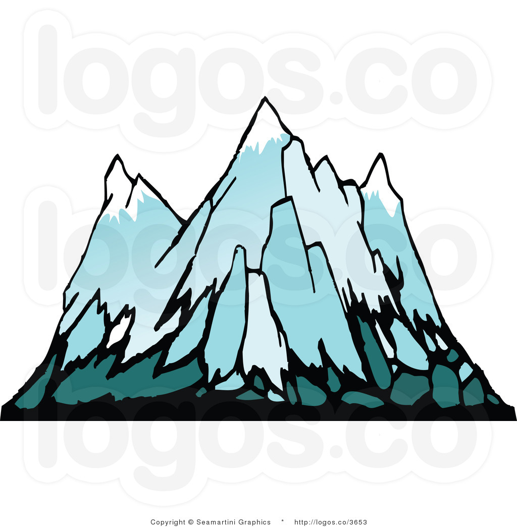 Snowy mountain clip art. Clipart mountains terrain
