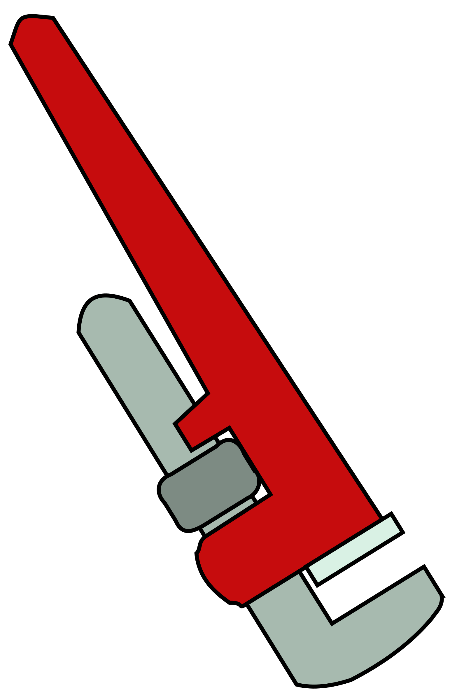 Pipe wrench clipground. Screwdriver clipart cartoon