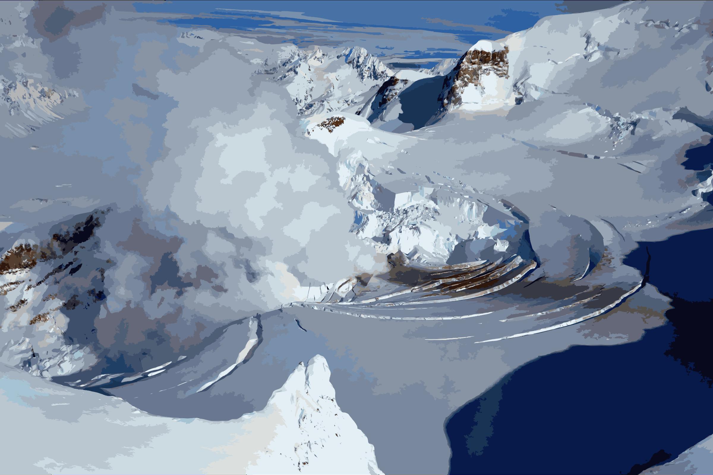 Glacier clipart ice cap. Mt redoubt ak icons