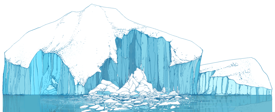 Glacier clipart ice cap. Iceberg cartoon water transparent