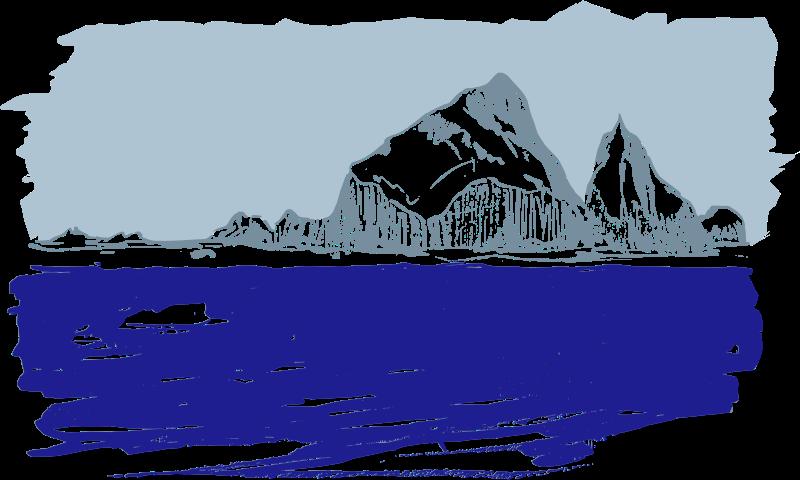 glacier clipart ice ocean
