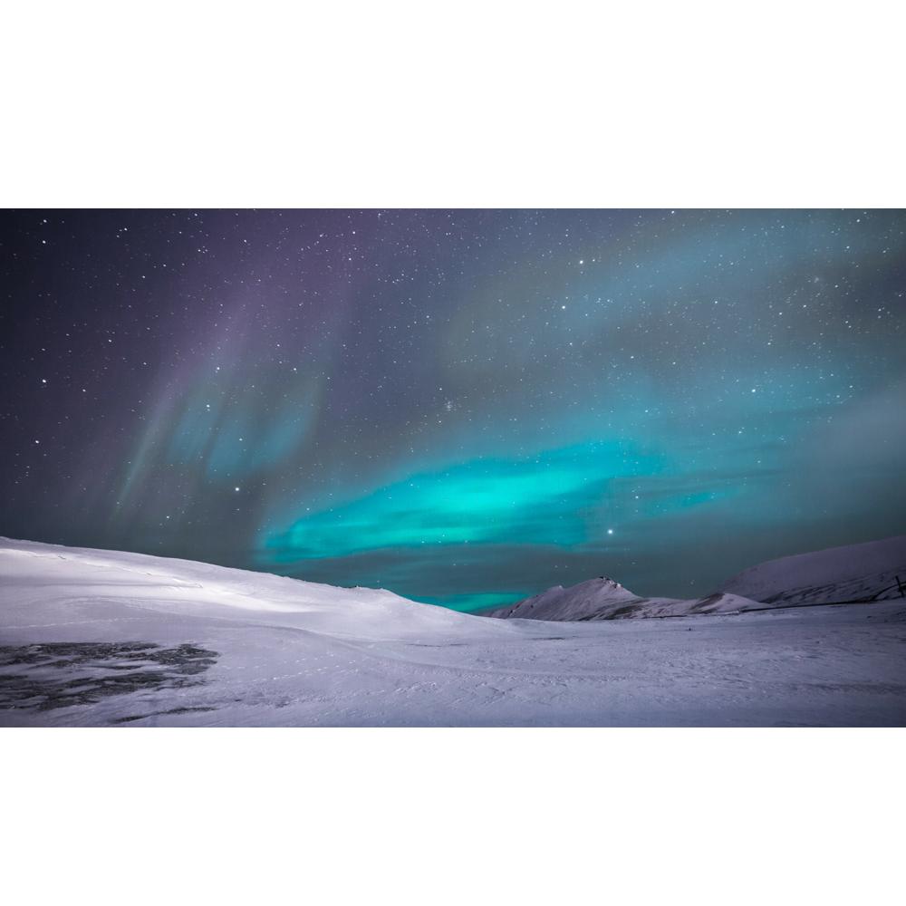 White winter aurora k. Glacier clipart landscape arctic