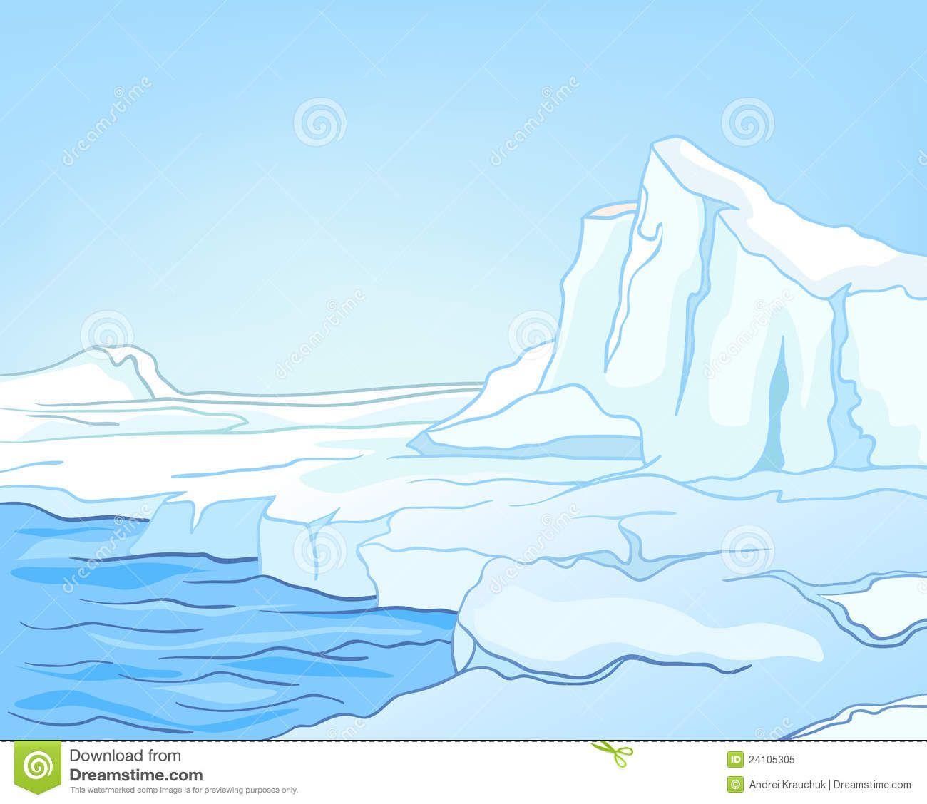 Image result for antarctica. Glacier clipart landscape arctic