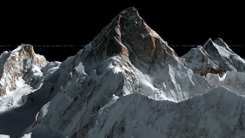 Johnni m aguirre k. Glacier clipart mountain k2