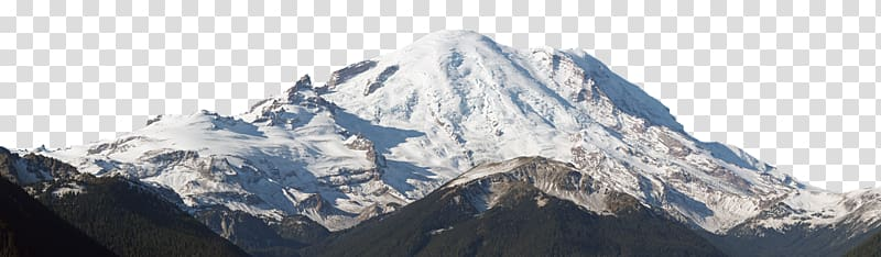 Snowy mountains transparent . Glacier clipart mountain top