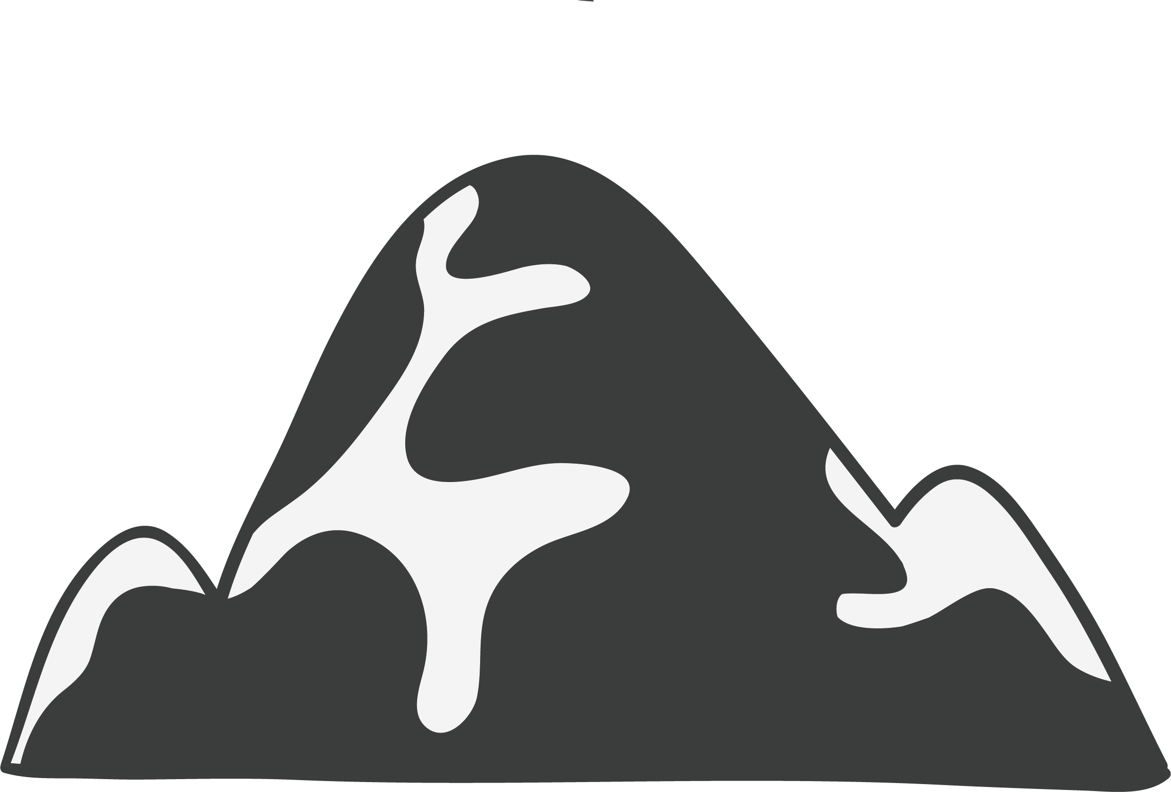 Silhouette at getdrawings com. Glacier clipart tip iceberg