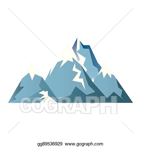 Glacier clipart vector. Art mountains isolated icon