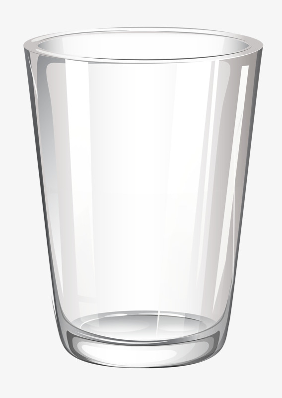 Glass clipart. Cartoon painted transparent cup