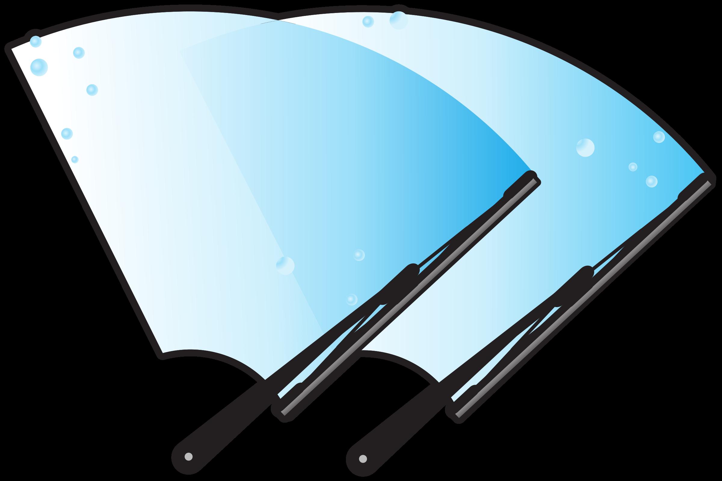 Glass clipart car. Windscreen wipers big image