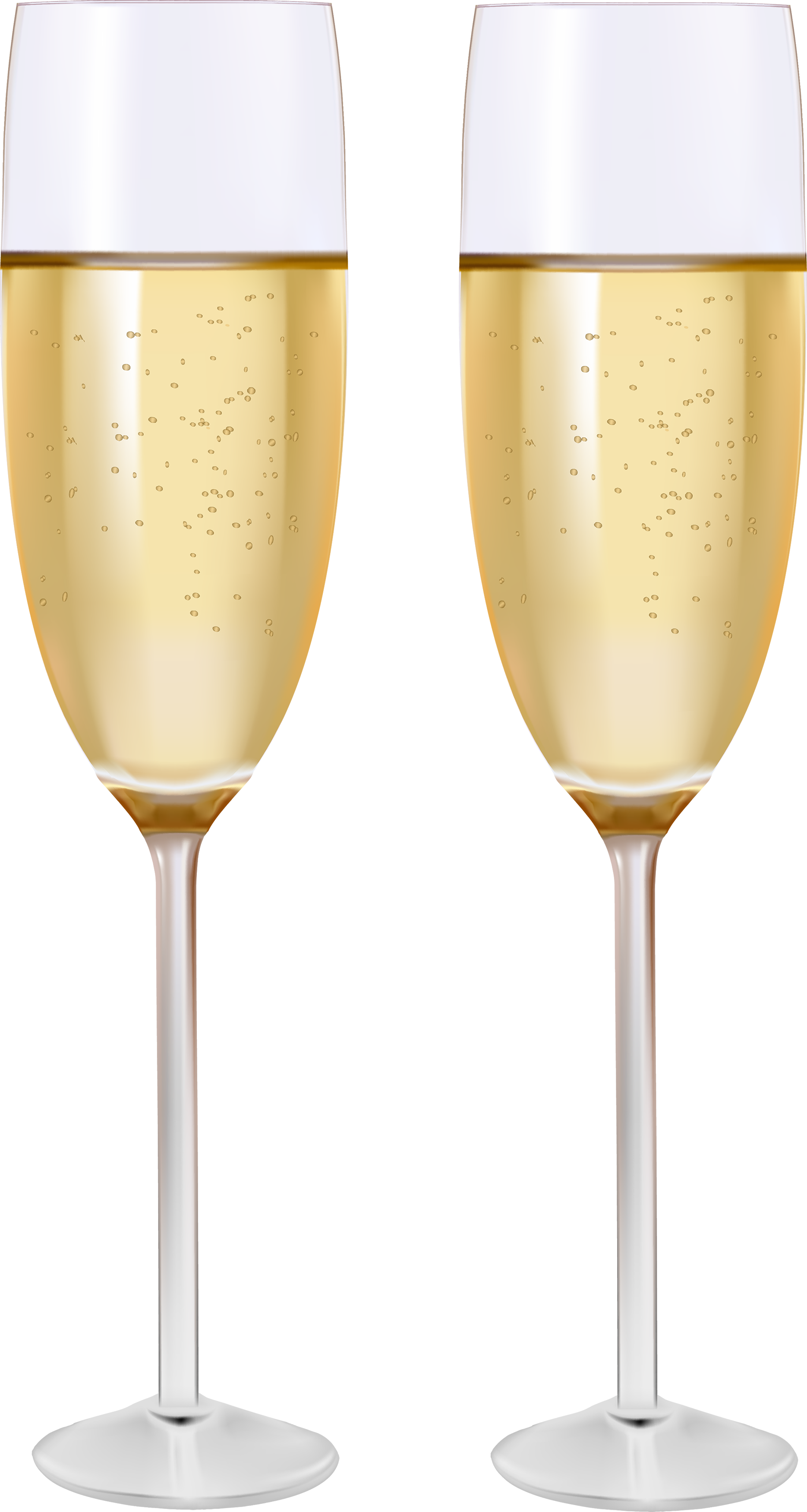 gold clipart champagne flute