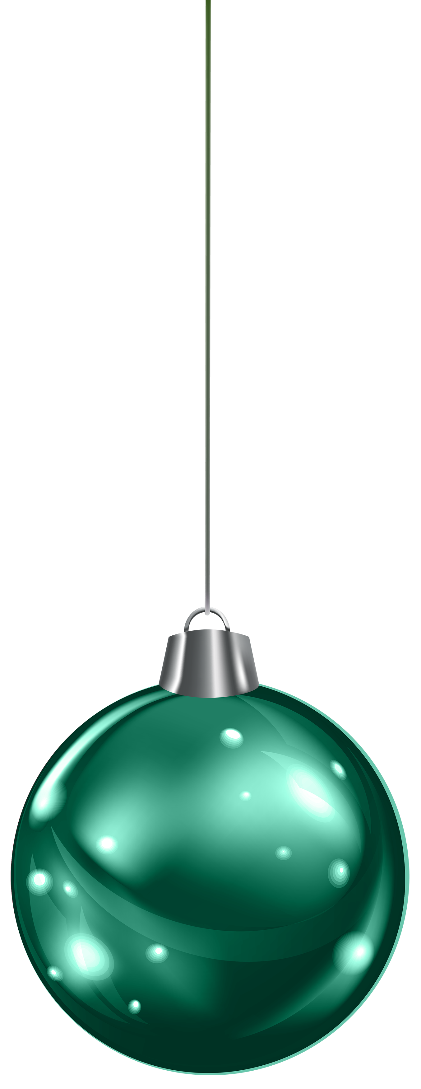 Glass clipart christmas. Hanging green ball png