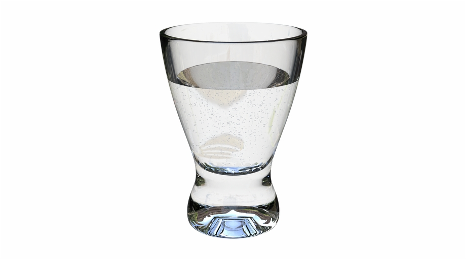 Glass clipart clear glass. A of water transparent