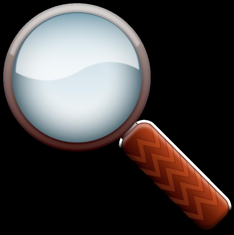 Magnifying color top secret. Glass clipart detective