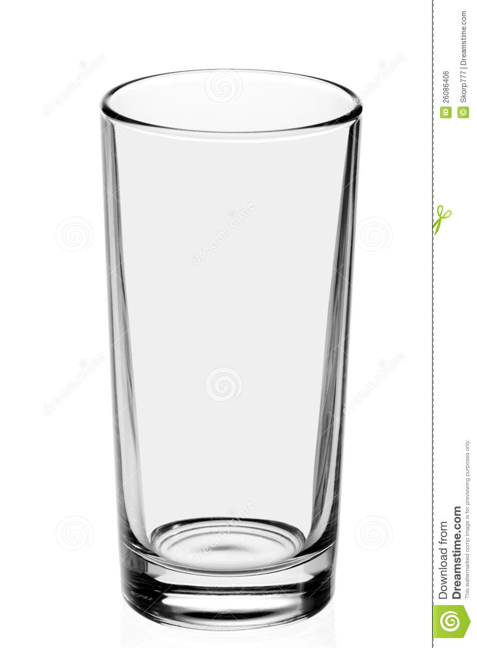 On the white panda. Glass clipart empty glass