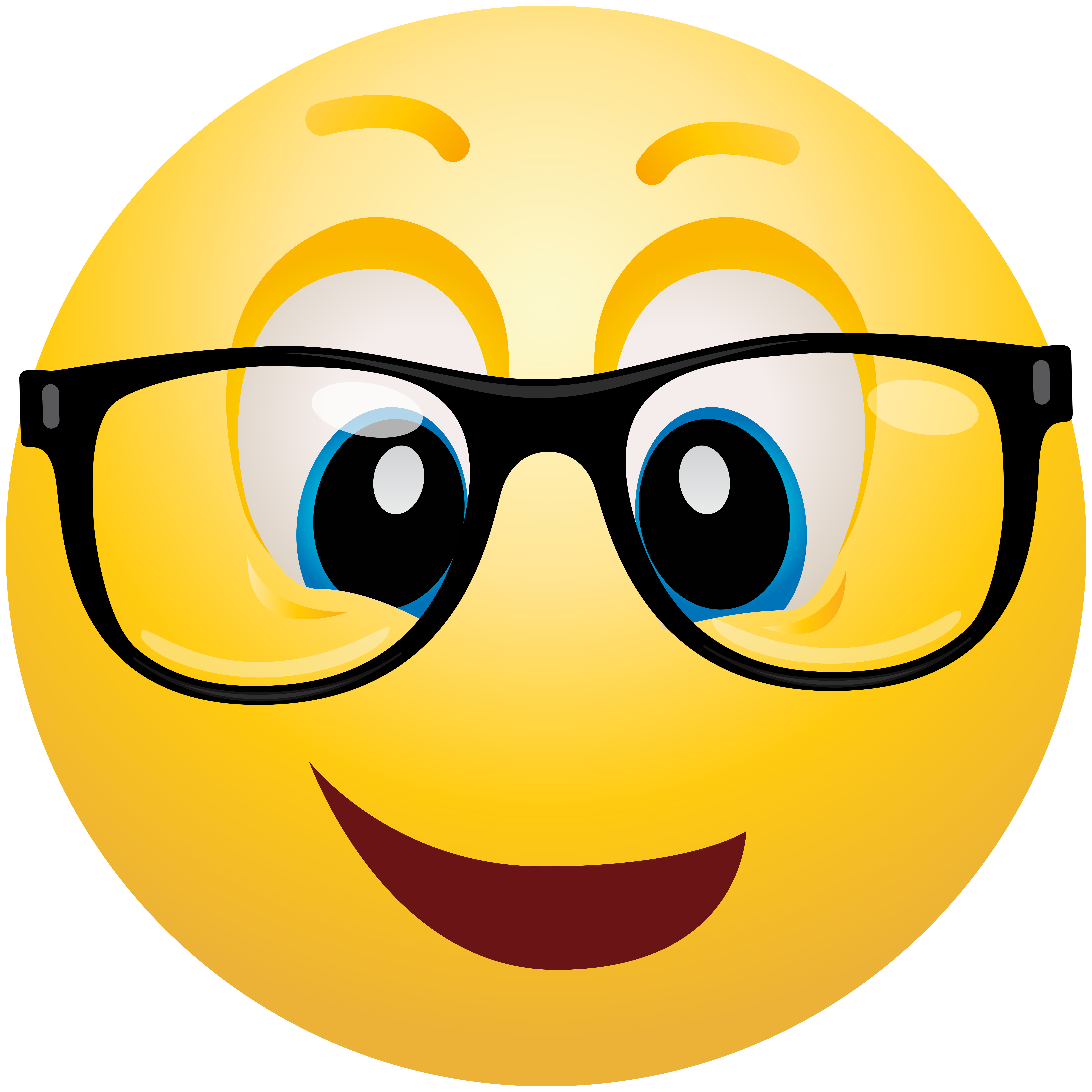 Geek emoticon png clip. Glass clipart face