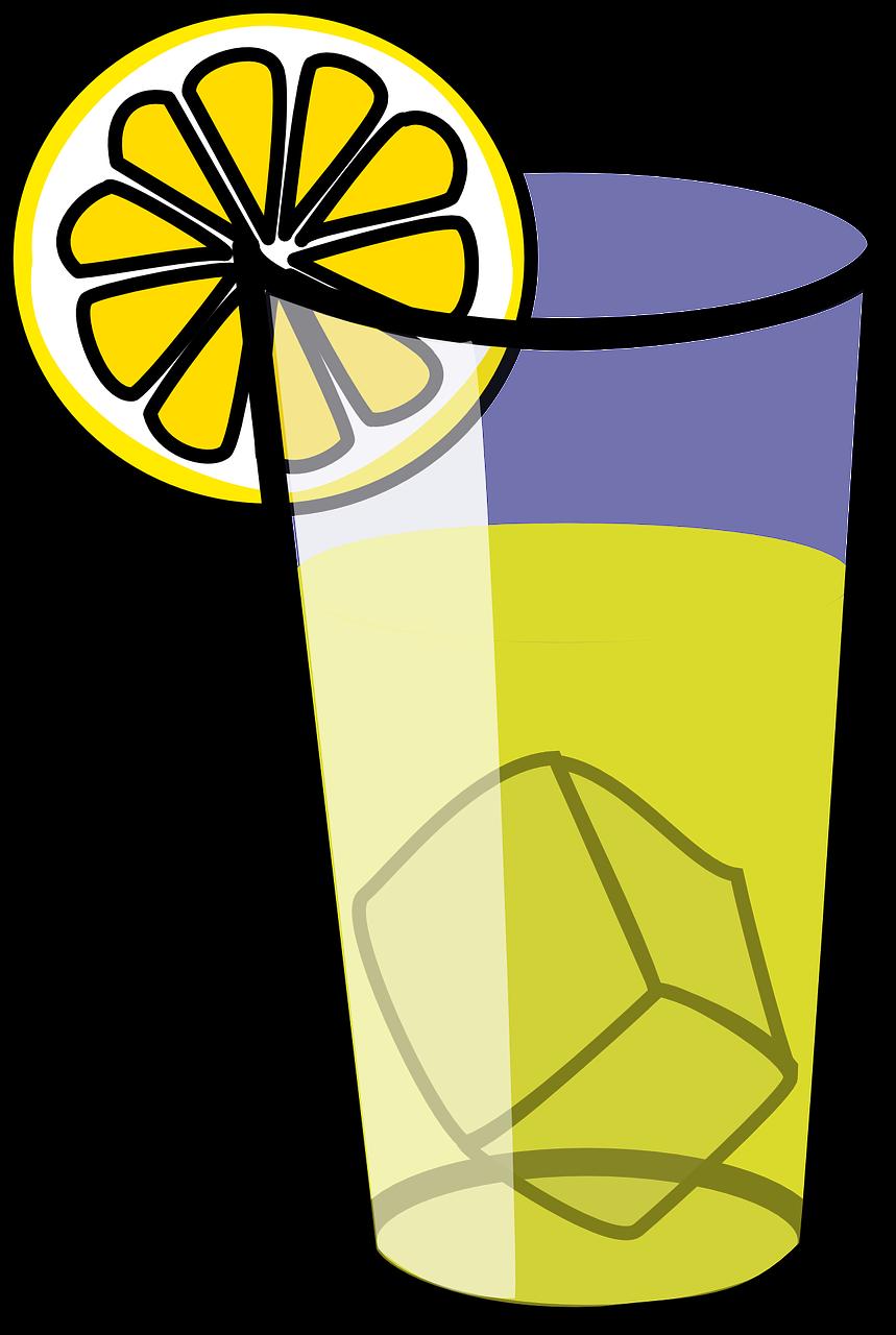 Lemonade juice iced tea. Glass clipart lemon