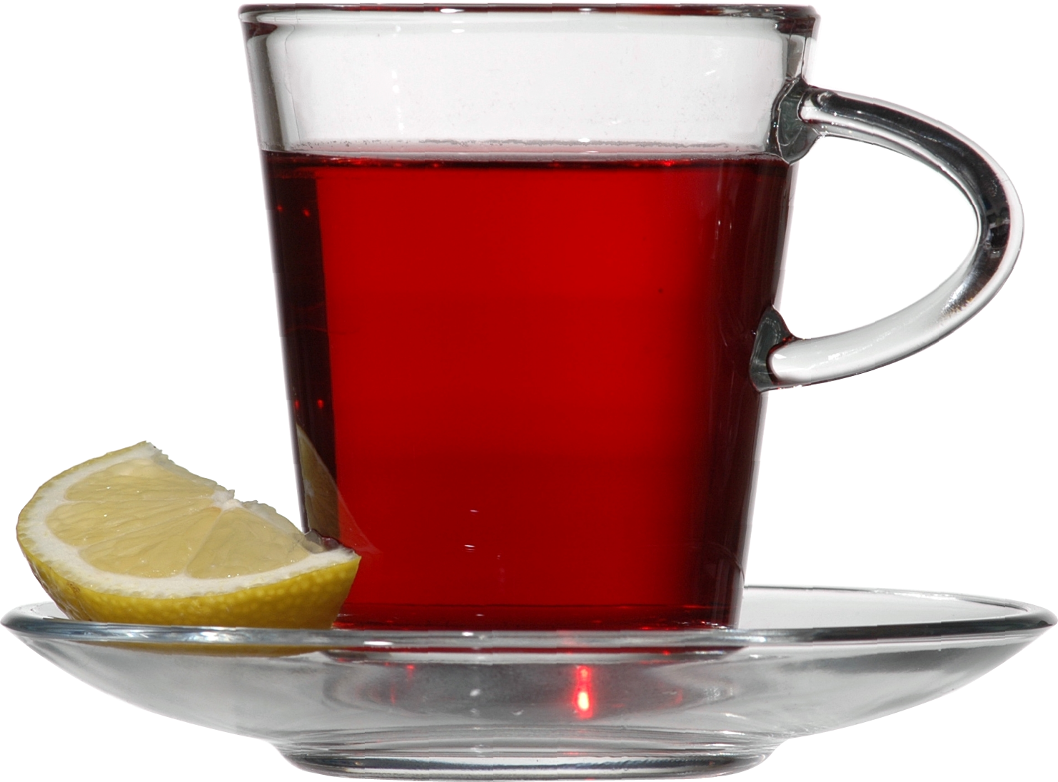 Glass clipart lemon. Red tea with png