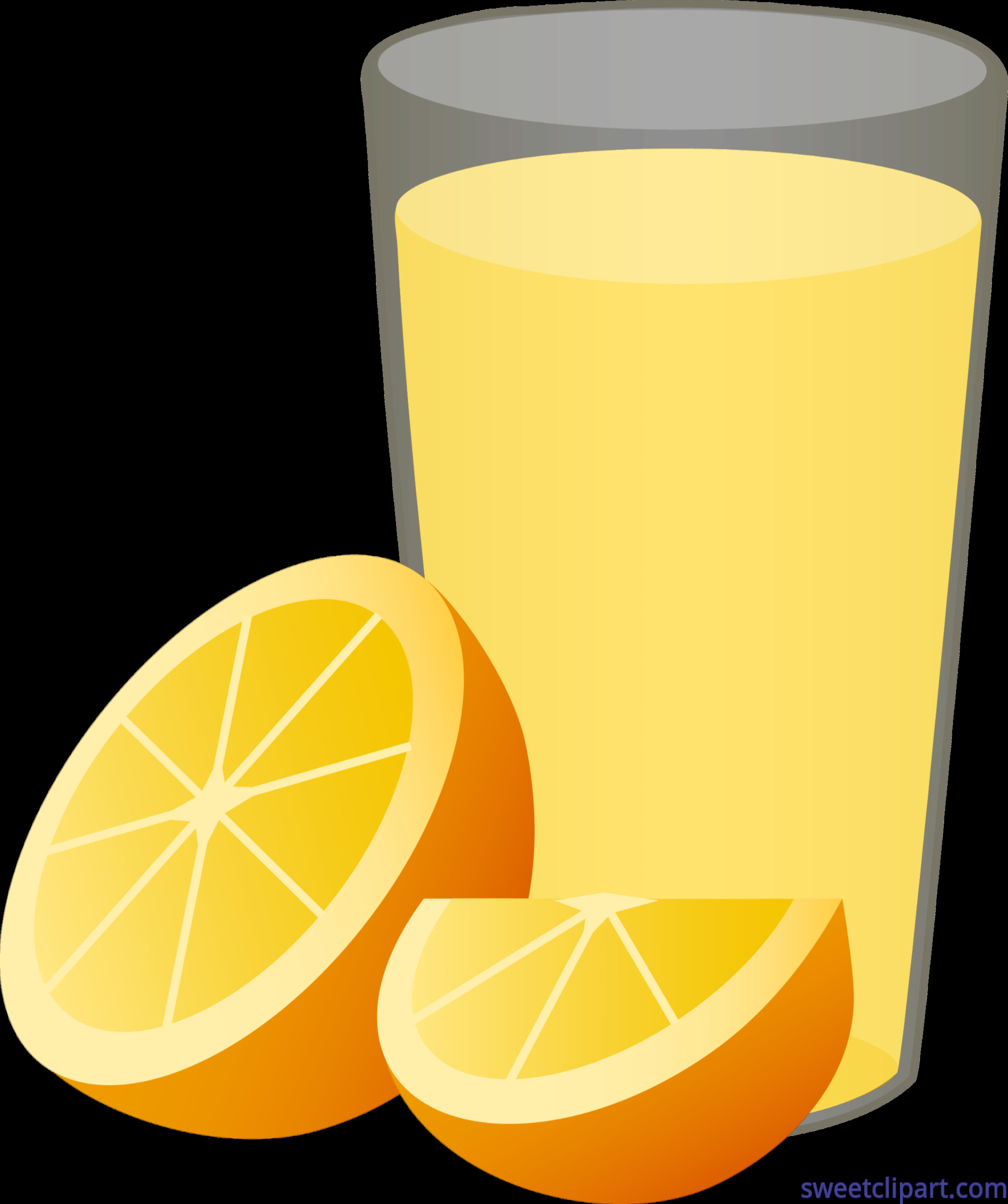 Glass clipart lemon. Orange juice half wedge