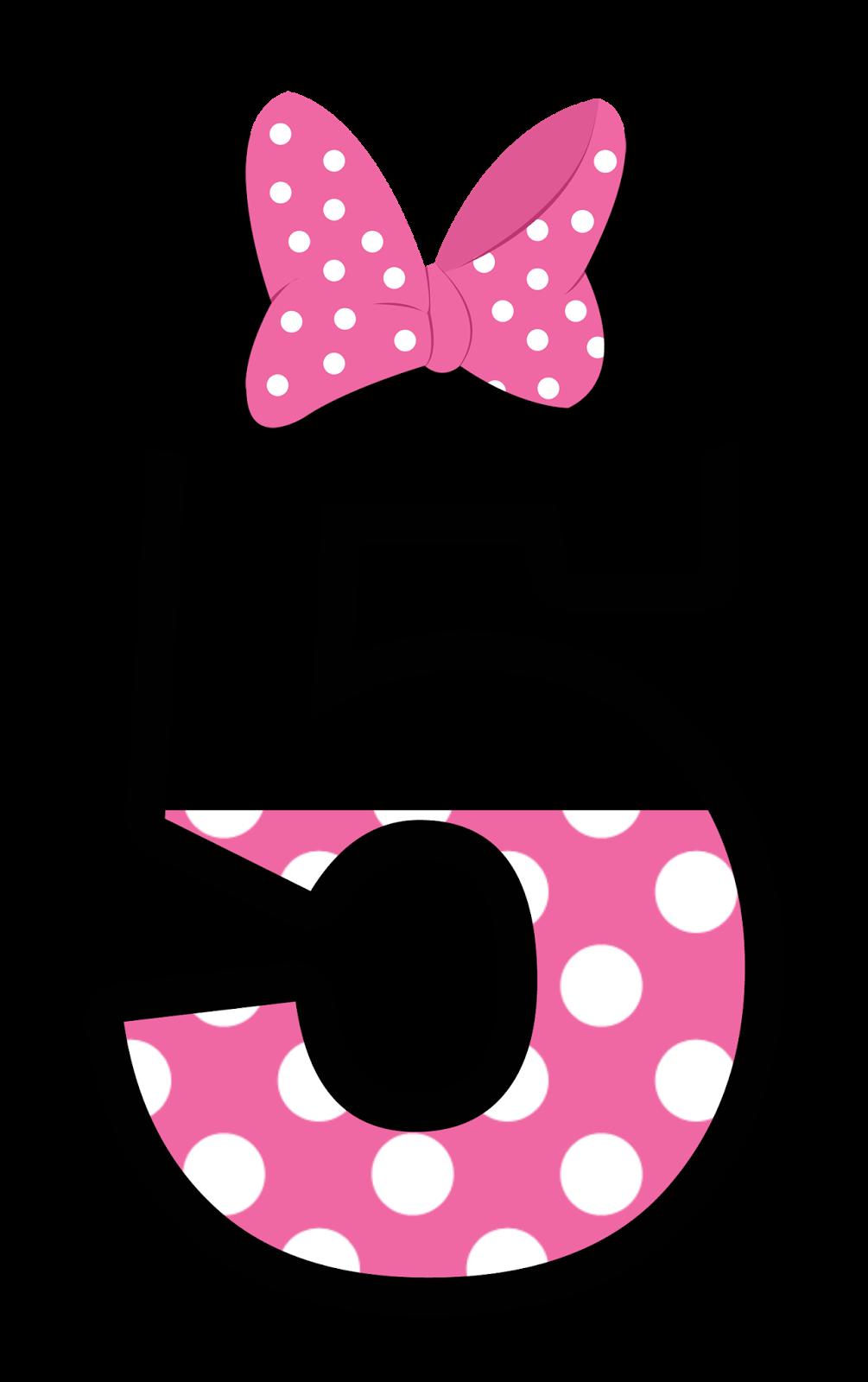 Halloween clipart minnie. Numeros estilo en rosa