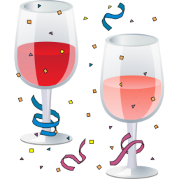 Party free images at. Glass clipart new year