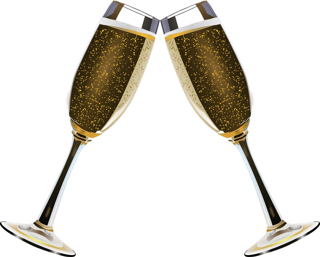 Years eve champagne transparent. Glass clipart new year