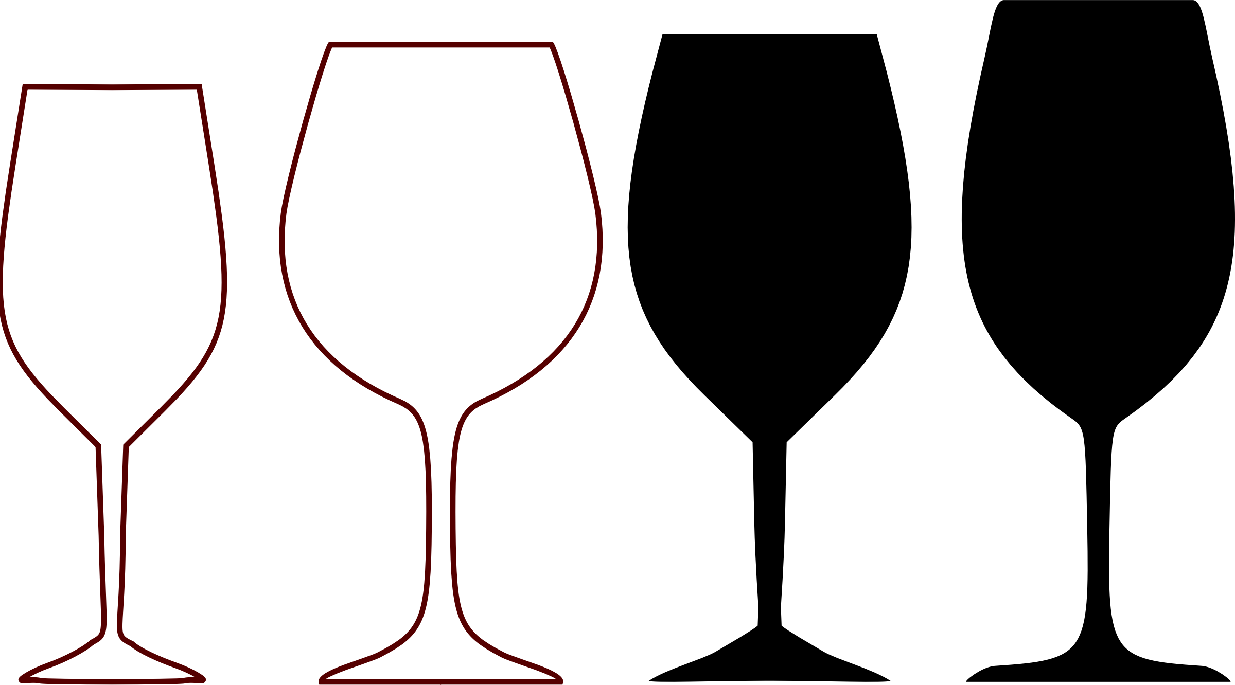 Shapes by qpad and. Silhouette clipart wine glass