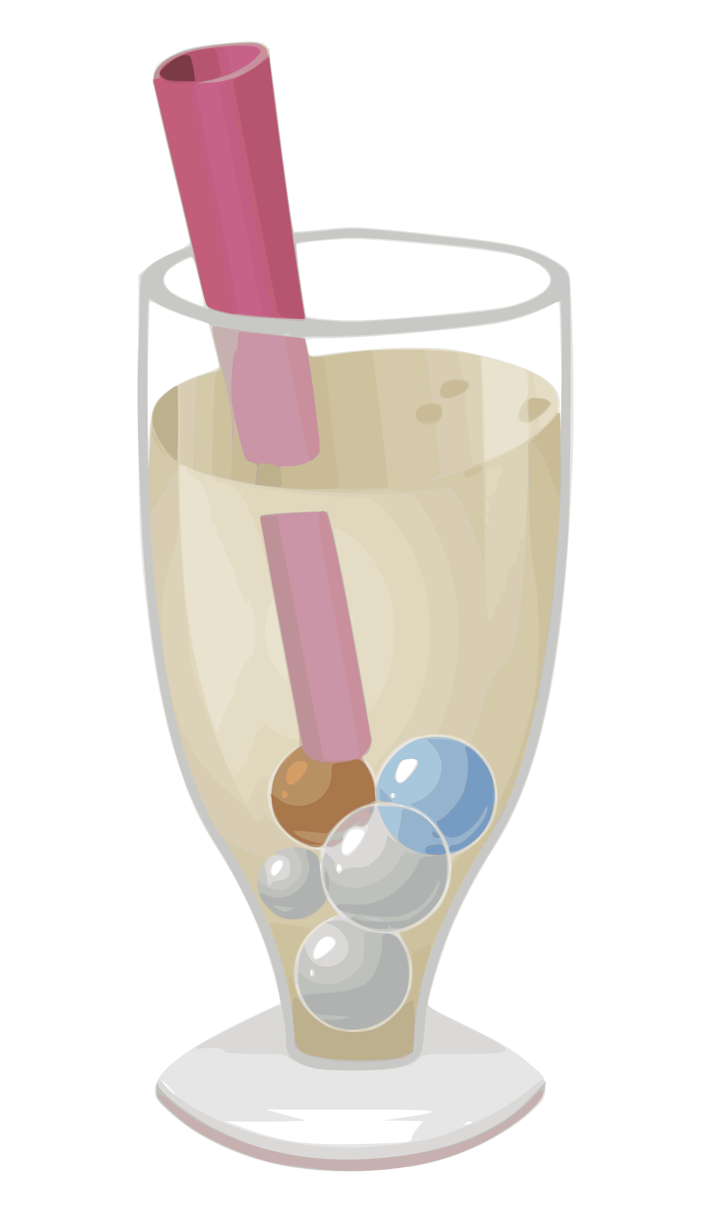 Bubble tea glitch by. Glass clipart smoothie