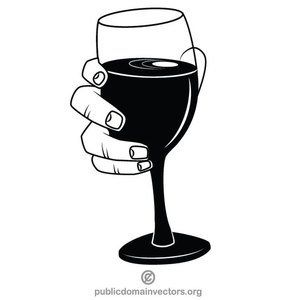 Glass clipart vector. Of wine clip art
