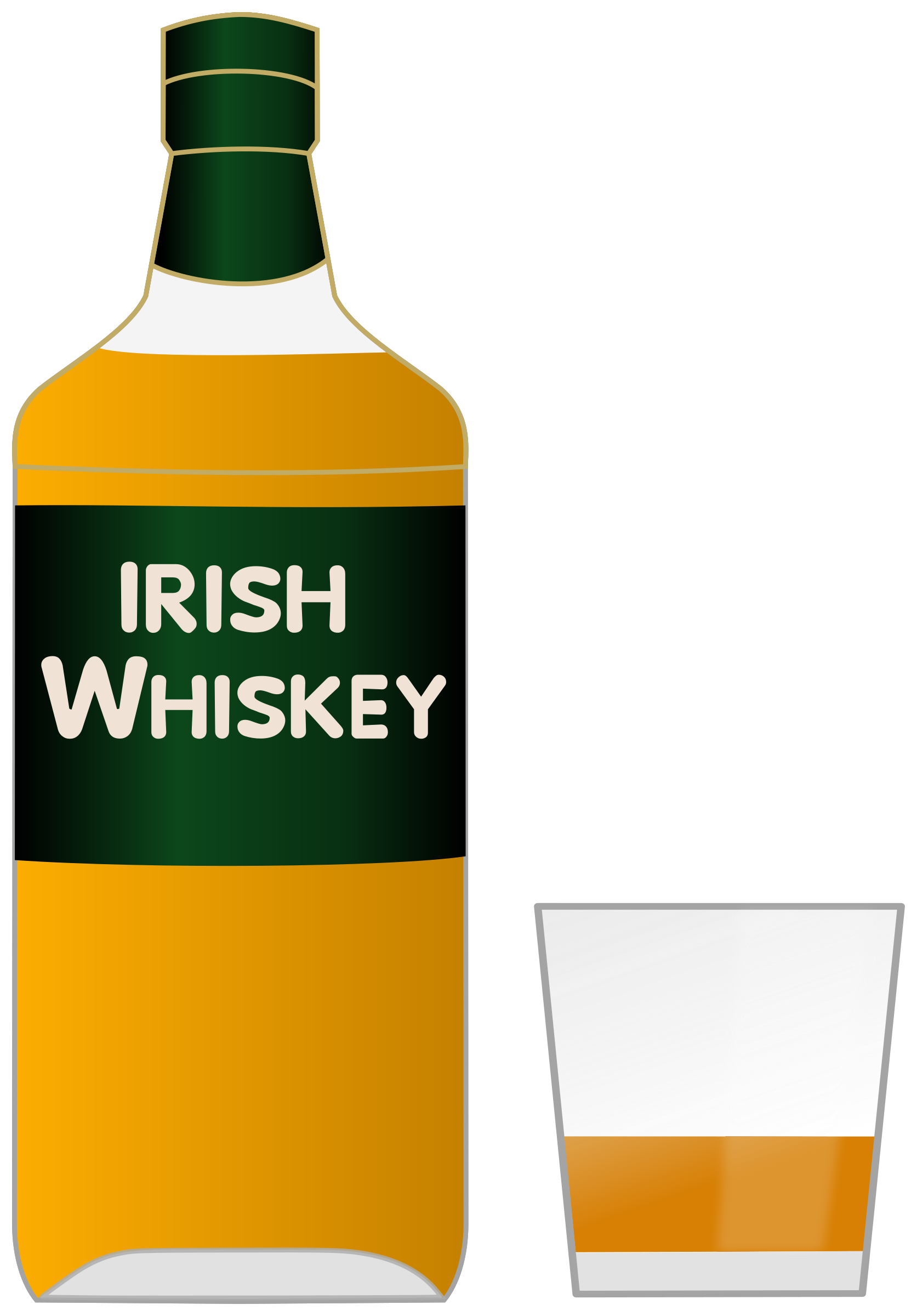 Bottle of irish and. Glass clipart whiskey