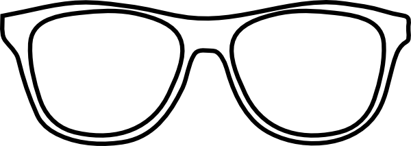 White . Glasses clipart