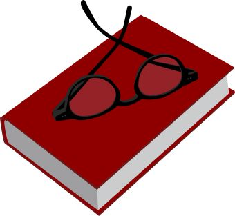 Glasses clipart book. Red with clip art