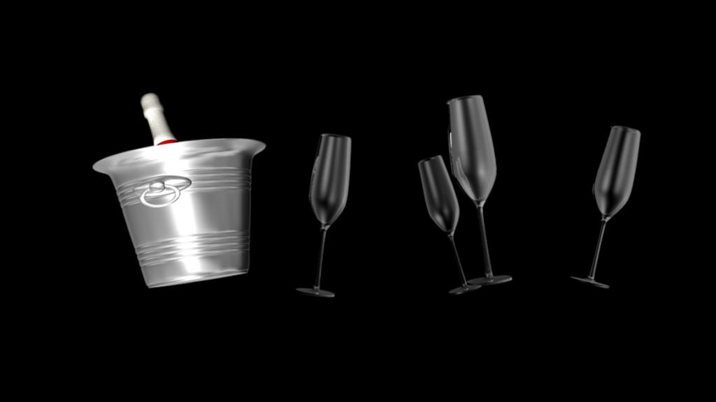Glasses clipart wedding. Themed champagne bottle in