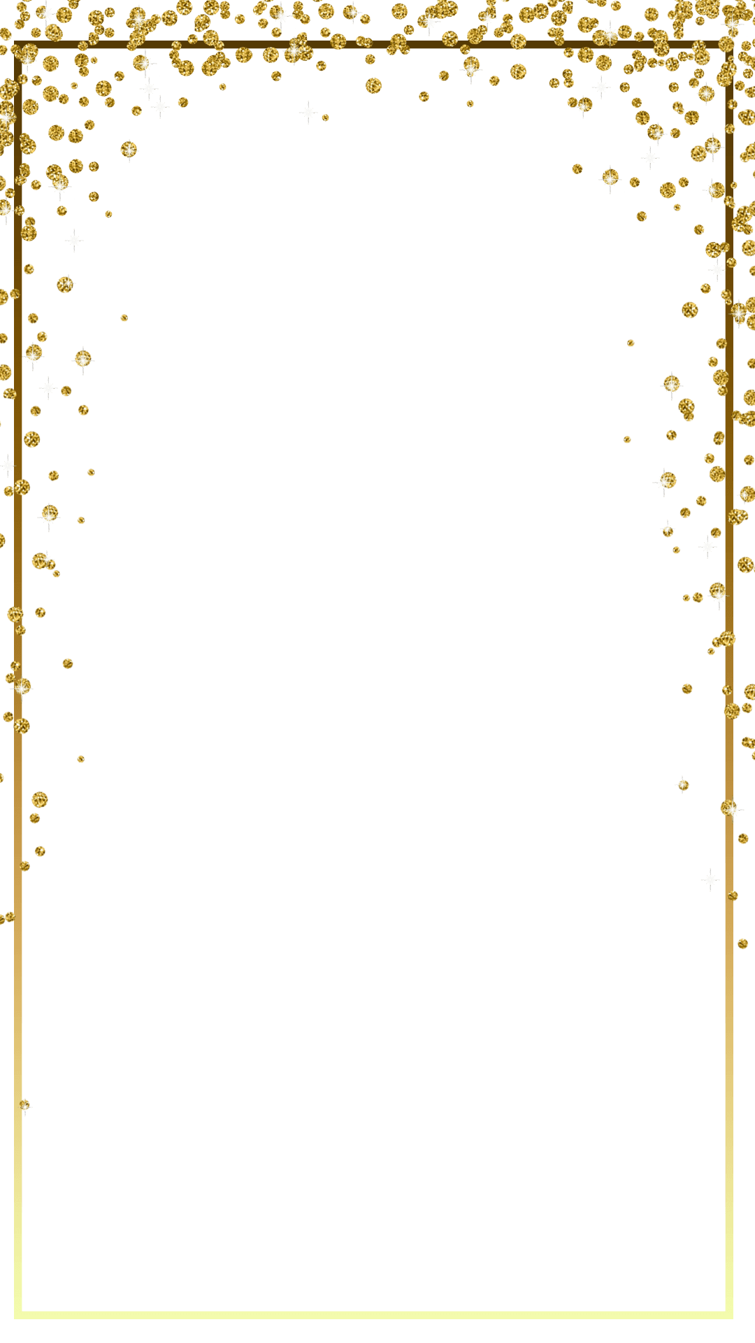 Gold glitter frame png.  border for free