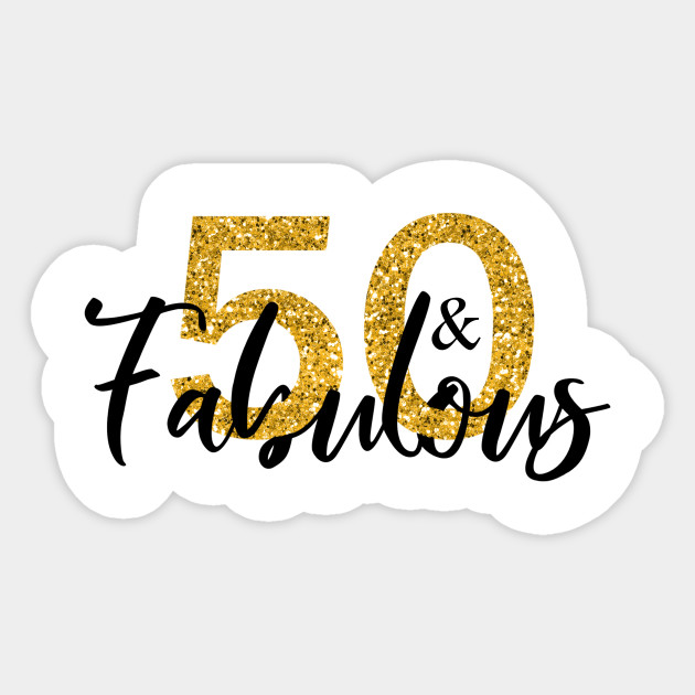 Glitter clipart 50 gold.  and fabulous