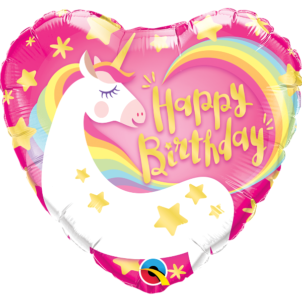 Glitter clipart birthday party. Magical unicorn heart foil