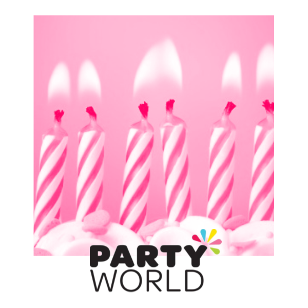 Pink twist candles . Glitter clipart birthday party