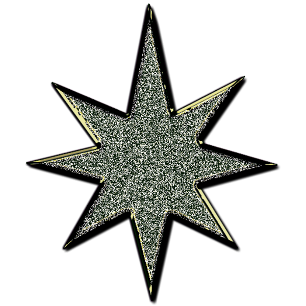 Holiday clipart glitter. Star d black free