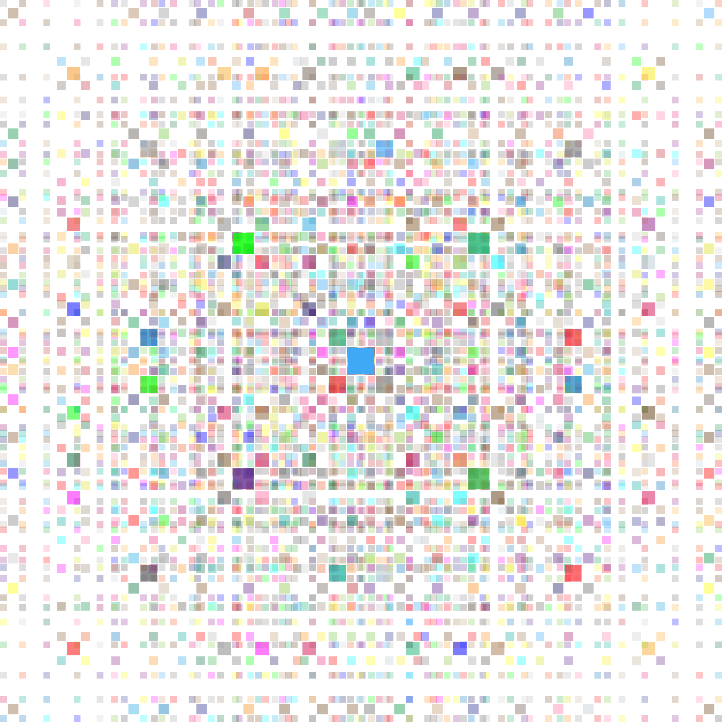 Square fractal big image. Glitter clipart colorful