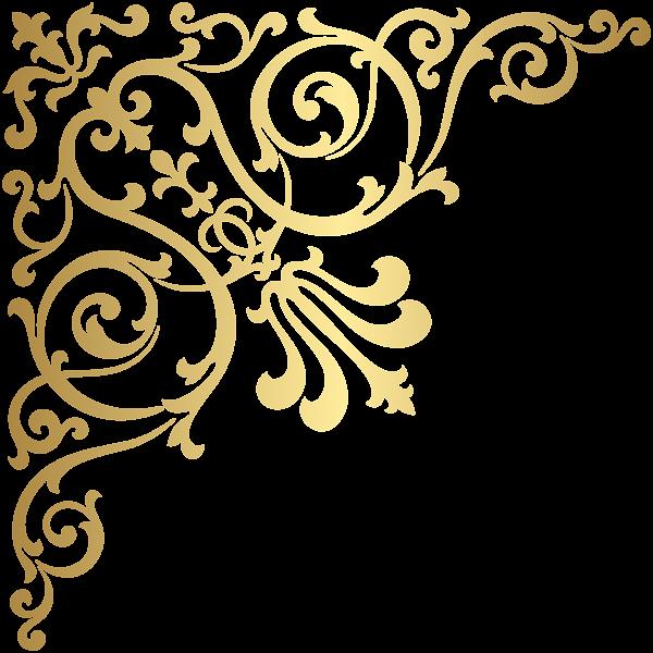 Gold transparent png clip. Glitter clipart corner