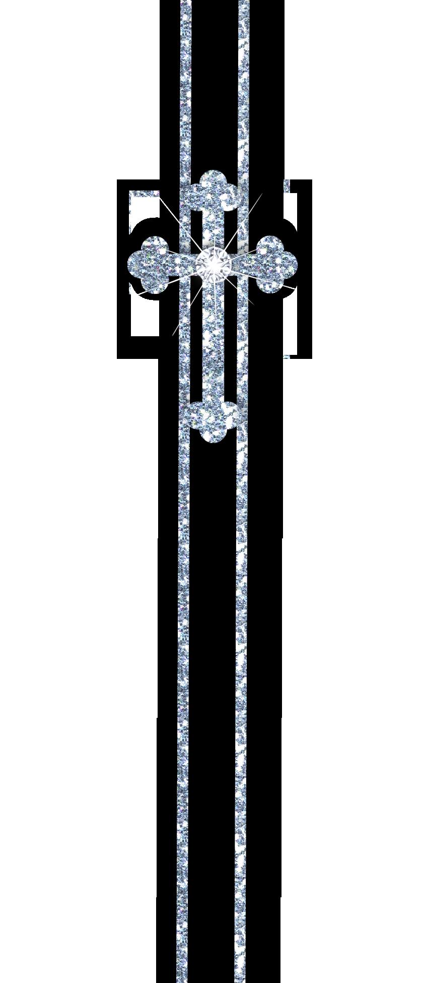 Glitter clipart cross.  free black white