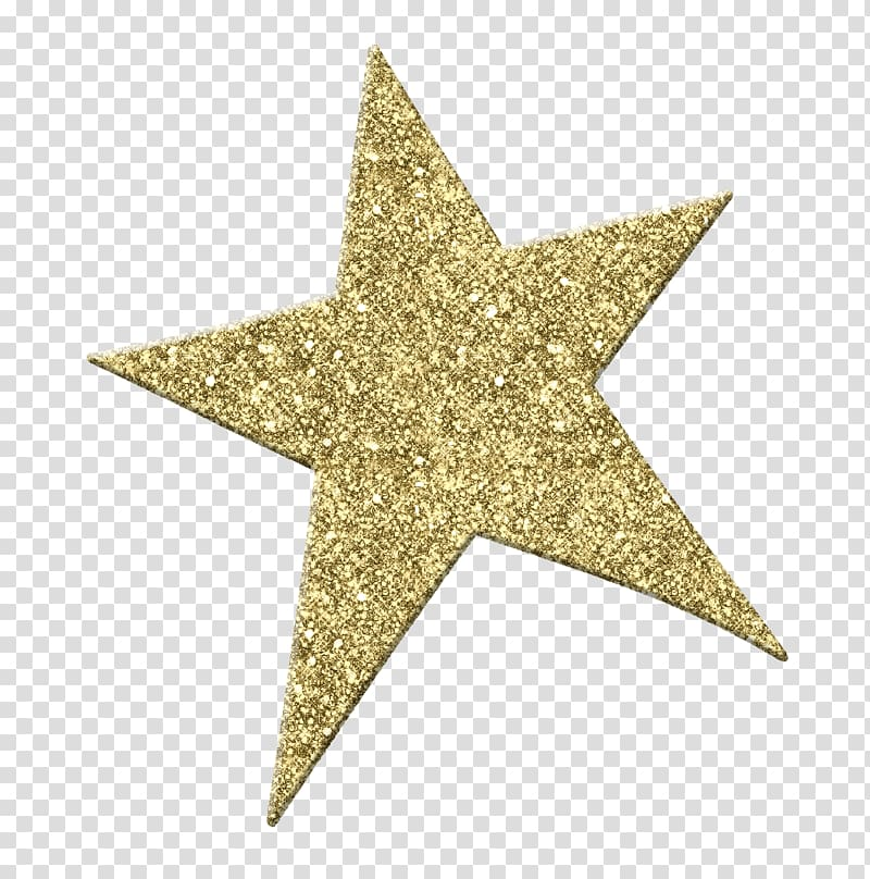 Gold star illustration . Glitter clipart file