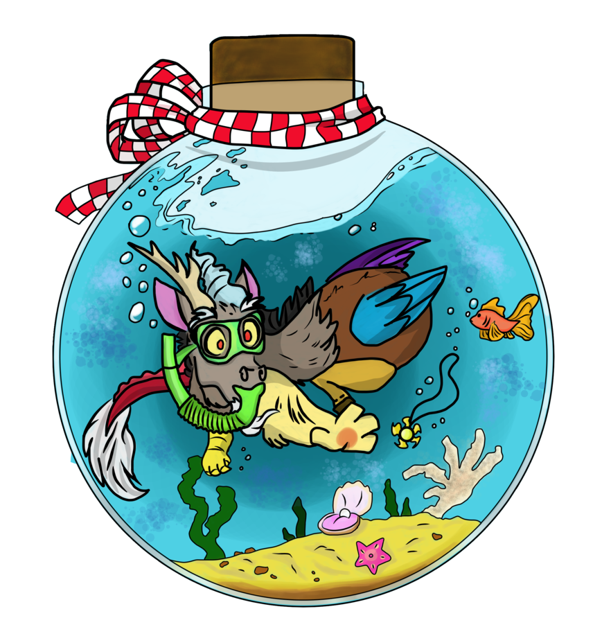 Glitter clipart glitter bottle. Discord colored sketch by