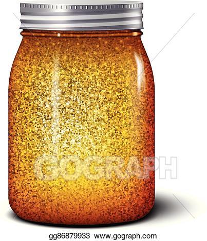 Glitter clipart glitter jar. Clip art vector realistic