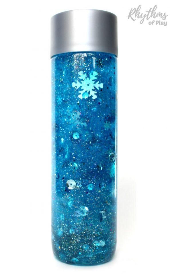 Diy frozen inspired snowstorm. Glitter clipart glitter jar